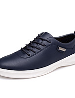 Men's Sneakers Spring / Fall Comfort Microfibre Casual Flat Heel  Black / Blue / Brown / White Walking