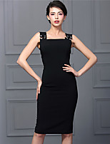 Baoyan® Women's U Neck Sleeveless Above Knee Dress-160331