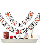 Funny Happy Halloween Ghost Pumpkin Witch Banner Hanging Garlands Bunting Banner