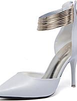 Damen-High Heels-Lässig / Party & Festivität-Kunststoff-Stöckelabsatz-Absätze-Schwarz / Weiß