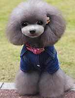 Dog Jeans Blue Winter / Spring/Fall Solid Casual/Daily / Cowboy Dog Clothes / Dog Clothing-Other