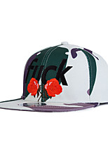 New Street Fashion Men Women Rose Embroidery Camouflage Hip Hop Baseball Caps