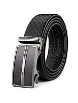 Men's Dress Belts Plaid Cowhide Waist Belt,Vintage / Party / Work / Casual Leather All Seasons