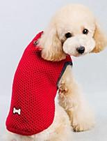Gatos / Perros Disfraces / Abrigos / Suéteres Rojo / Azul Invierno Un Color / Navidad / HalloweenCosplay / Navidad / Vacaciones / Año