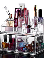 2016 New Portable Transparent Acrylic Cosmetic Organizer Drawer Makeup Case StorageInsert Holder Box