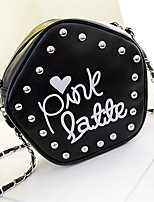 Women PU Casual Printing Pentacle Cute Chain Shopping Shoulder Key Holder Cosmetic Mobile Phone Bag