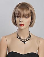 couleur courte perruques droites blonds capless perruques synthétiques pour les femmes