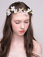 MISS DIVA Women's Tulle Headpiece-Casual Headbands 1 Piece White Flower 43