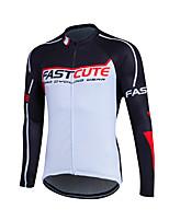 Fastcute® Maillot de Ciclismo Mujer / Hombres / Niños / Unisex Mangas largas BicicletaTranspirable / Secado rápido / Cremallera delantera