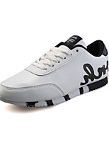 Da uomo-Sneakers-Casual-Modelli / Punta arrotondata-Piatto-PU (Poliuretano)-Nero / Rosso / Grigio