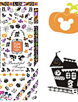 1 pcs Nail Art Water Transfer Halloween Sticker Lovely Mickey Pumpkin Image Nail Beauty HOT201