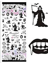 Nail Art наклейки ногтей Полу-накладные ногти / Полностью накладные ногти / Вода Передача Переводные картинки / Стразы для ногтей