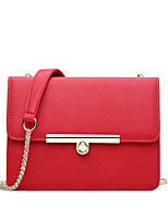 Women PU Casual Metal Fittings Color Stitching Twist Lock Shopping Shoulder Bag Coin Purse Mobile Phone Bag