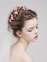 Dam Tyll Headpiece-Bröllop Hårband 1 st. Rosa