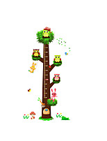 Animals Wall Stickers Tree Wall Stickers Kids Wall Stickers,Height Stickers OWLS Decals Wall Art