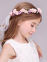 Blomsterpige Skum Headpiece-Bryllup Kranser 1 Deler Rosa Blomst 43cm