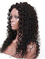 10-28 Inch Loose Curly Lace Wig Brazilian Virgin Human Hair 130% Density Lace Front Wig With Baby Hair