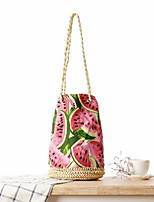 STYLE-CICI® Women Straw Tote Red-529037237264