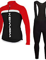 KEIYUEM®Spring/Summer/Autumn Long Sleeve Cycling Jersey+Long Bib Tights Ropa Ciclismo Cycling Clothing Suits #L88