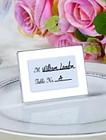 Bridesmaids / Bachelorette Wedding décor mini Photo Frame Table Place card holder / Rustic / Silver