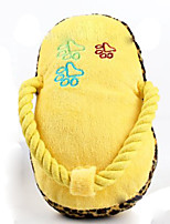 Cat / Dog Toy Pet Toys Plush Toy / Squeaking Toy Squeak / Squeaking / Shoes Plush Yellow