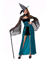 Cosplay Costumes Wizard/Witch Movie Cosplay Black Solid Dress / Hat Halloween / Christmas / New Year Female Polyester