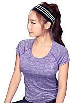 Carrera Camiseta / Sudadera Mujer Mangas cortas Transpirable / Secado rápido / Bandas Reflectantes / Reductor del Sudor / CómodoElastán /