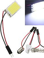 10pcs 18 LED COB Chip White Car Auto Light Panel Interior Reading Map Lamp Bulb BA9S Festoon Dome(DC12V)