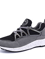 Women's Sneakers Spring / Fall Comfort Suede / Fabric Casual Flat Heel Lace-up Black / Red / Gray Others
