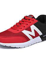 Women's Sneakers Spring / Fall Comfort Tulle Athletic Flat Heel Lace-up Blue / Gray / Black and Red Sneaker