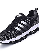 Men's Sneakers Spring / Fall Round Toe / Flats PU / Tulle Athletic Flat Heel Others / Lace-up Black / Blue / Orange