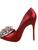 Черный / Красный / Белый / Серебристый / Золотистый / Темно-красный-Женский-На каждый день-Полиуретан-На шпильке-На каблуках-Обувь на