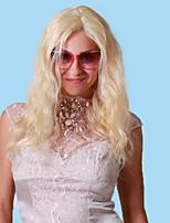100% человеческих волос девственница 10-26 дюймов 613 # отбеливатель блондинка естественная волнистая и или v часть парик фронта шнурка с