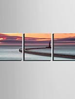 Canvas Set Maisema European Style,3 paneeli Kanvas Neliö Tulosta Art Wall Decor For Kodinsisustus