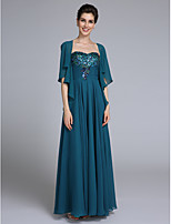 Lanting Bride® A-line Mother of the Bride Dress Ankle-length Sleeveless Chiffon with Ruching / Sequins