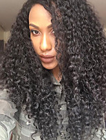 Brazilian Virgin Hair Curly Lace Front Human Hair Wigs for Women U-Part Lace Front Wigs Natural Color