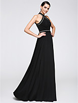 TS Couture® Formal Evening Dress Sheath / Column Halter Floor-length Chiffon with Pattern / Print / Tassel(s)