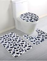 Коврики для ванной-черный-хлопок-80 x 50