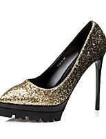 Damen-High Heels-Kleid / Lässig / Party & Festivität-Lackleder / Glanz-Stöckelabsatz-Absätze / Plateau / Spitzschuh-Gold