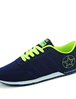 Men's Sneakers Spring / Fall Styles / Round Toe Suede Casual Flat Heel Others Blue / Green / Red Walking