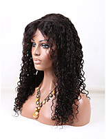 100% Brazilian Virgin Human Hair 1# Jet Black Color Natural Curly  Lace Wig 10-26 Inch U Part Lace Front Wig