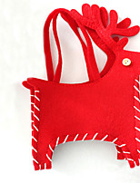 1pc Red Christmas Deer Candy Bag Merry Christmas Home Decoration Holiday Party Creative Gift