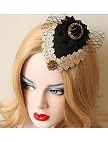 Dame Blonde Headpiece-Bryllup Blomster 1 Deler Svart Rund / Hjerte Skjær 50CM