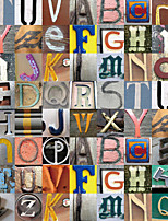 JAMMORY 3XL(14'7''*9'2'')3D Wallpaper For Home Contemporary Wall Covering Canvas Material Colored Letters
