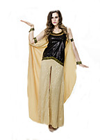 Cosplay Costumes Queen / Egyptian Costumes Movie Cosplay Yellow Solid Dress / Armlet / Bracelet Halloween / Christmas / New Year Female