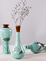 Hand-Painted Lotus Small Celadon Vase Ceramics Home Decoration (Random Style)
