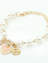 Bracelet Chaînes & Bracelets / Charmes pour Bracelets Cristal / Alliage / Imitation de perle / StrassForme Ronde / Forme de Coeur / Forme