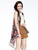 Heart Soul® Women's Round Neck Sleeveless Vest & Waistcoat Purple / Orange-W5723085