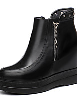 Women's Boots Winter Comfort Leatherette Office & Career / Dress / Casual Flat Heel Others Black Others
