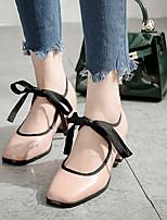Damen-High Heels-Lässig-PU-Blockabsatz-Absätze / Quadratische Zehe-Rosa